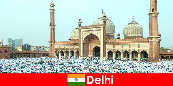 世界的に有名なイスラム教徒の建物を特徴とするインド北部の大都市デリー
