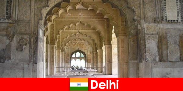 見知らぬ人はインドのデリーへの文化的な旅行が大好き