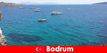 ボドルムトルコの美しい湾で外国人のための豪華な休日