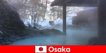 大阪ジャパンは温泉で温泉を楽しめ、スパ客を提供しています。
