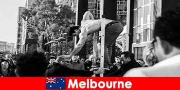 メルボルンオーストラリアの創造的なホリデーメーカーのための芸術と文化